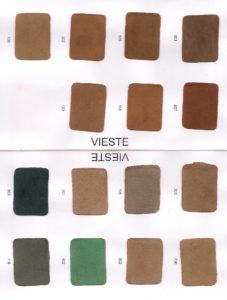 Cartella colori della pelle tipo camoscio pagina 2