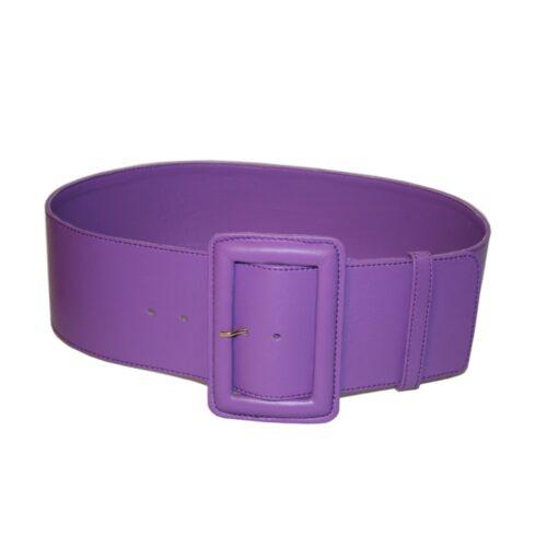 Cintura alta nappa lilla fibbia ricoperta
