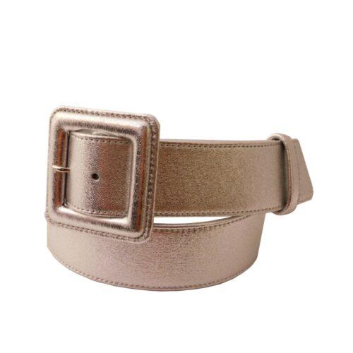 Cintura donna cm 4 nappa argento fibbia ricoperta