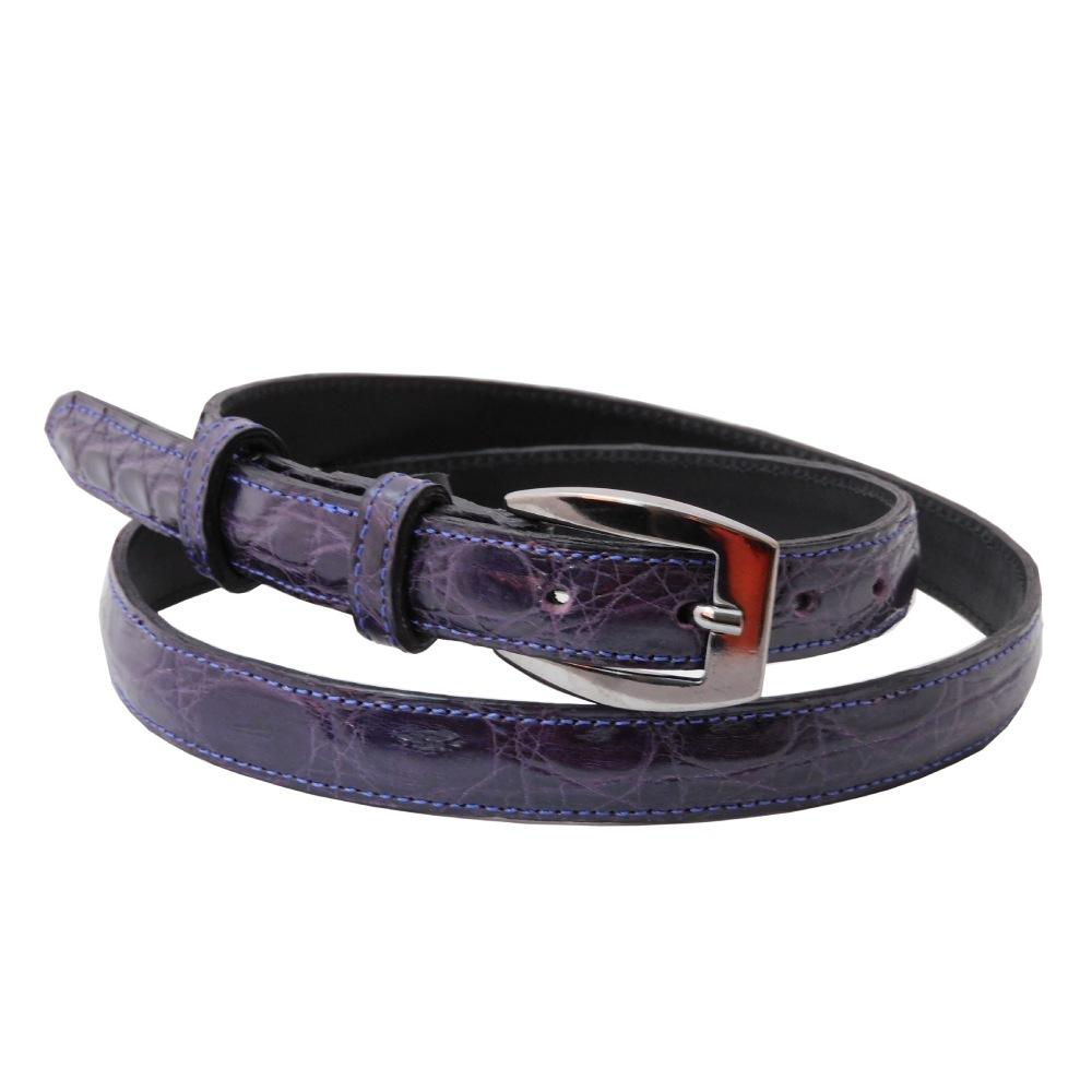 Cintura donna coccodrillo viola